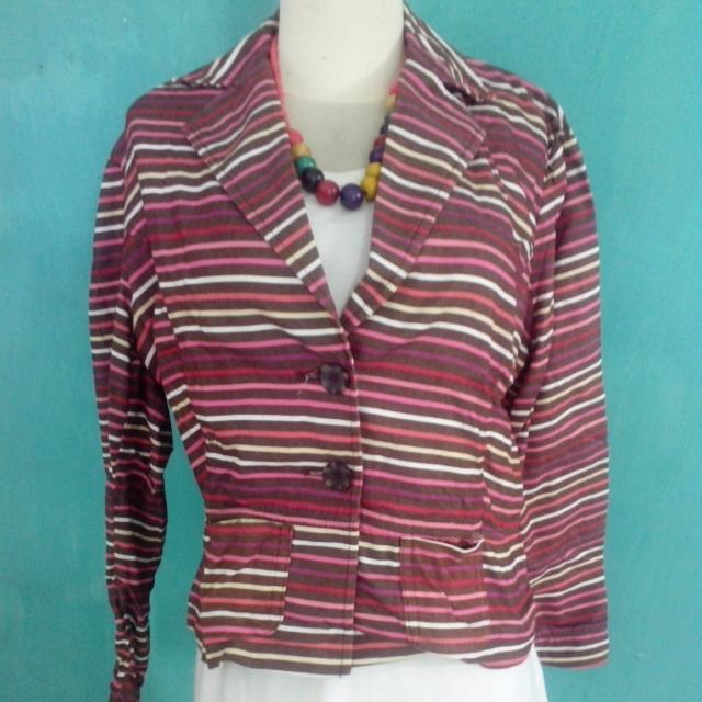 Cropped Striped Blazer (reprice)