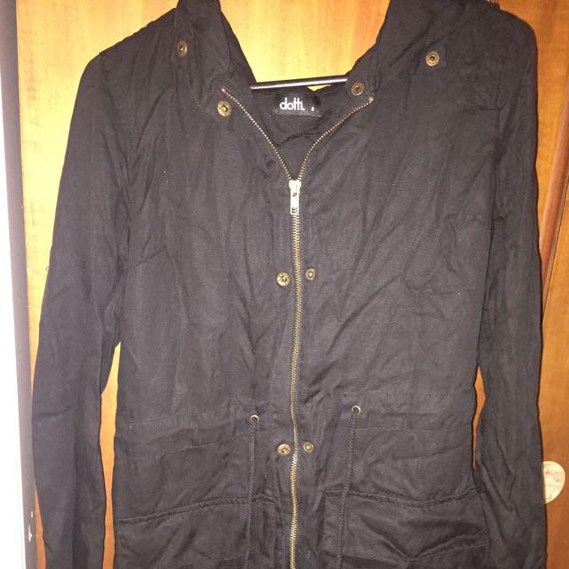 Dotti Black Jacket Size 8