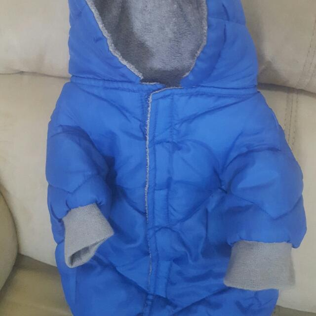 EUC DOG PARKA - FITS UP TO APPROX 17 LBS