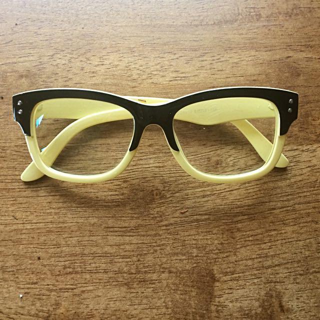 Fake Two Tone Glasses