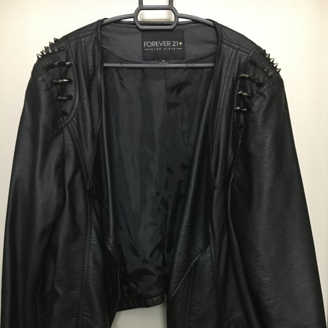 acee45dcf1 Forever 21 Plus Size Studded Faux Leather Jacket, Women's Fashion, Clothes,  Outerwear on Carousell
