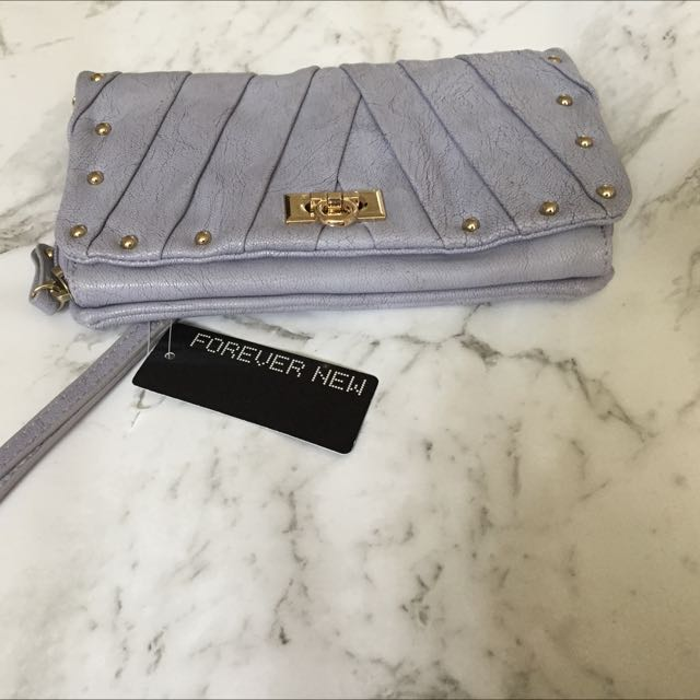 Forever New Pastel Blue Clutch