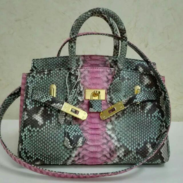 REPRICED! From 17k To 15k Genuine Python Skin Leather Bag In Matte Finish