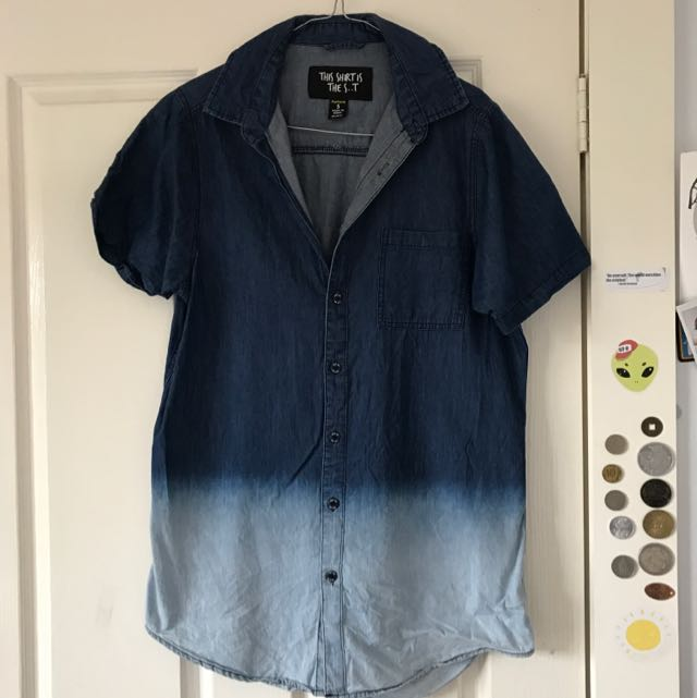 Gradient Blue Shirt