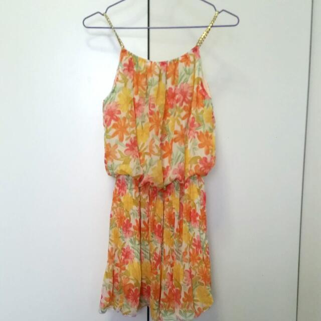 Greek Goddess Flower Dress