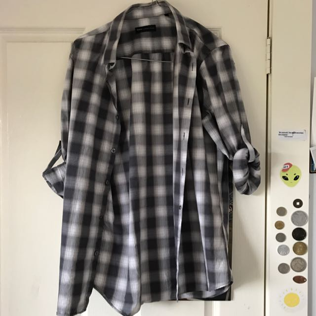 Grey And White Checkered