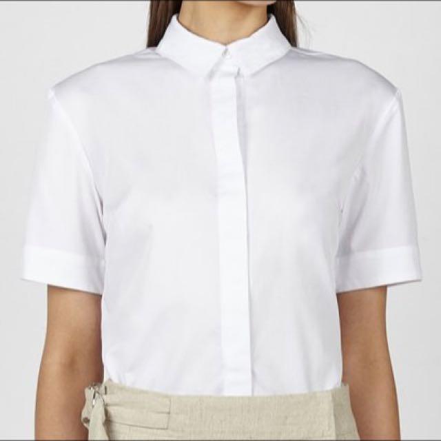 Hansen & Gretel White Button Up Shirt Size 10