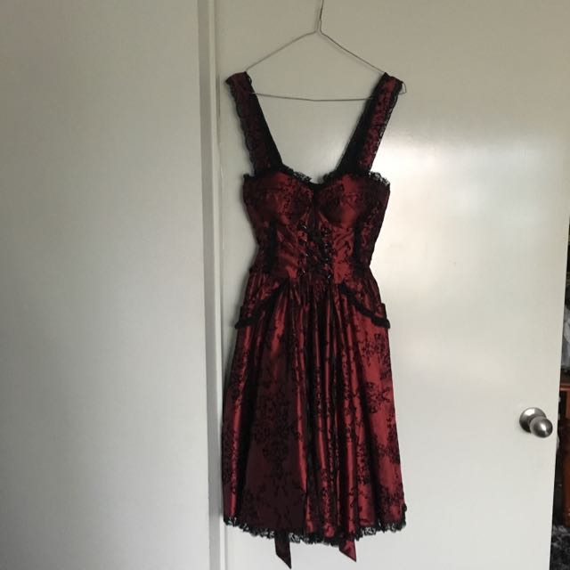 Hell Bunny Red And Black Dress