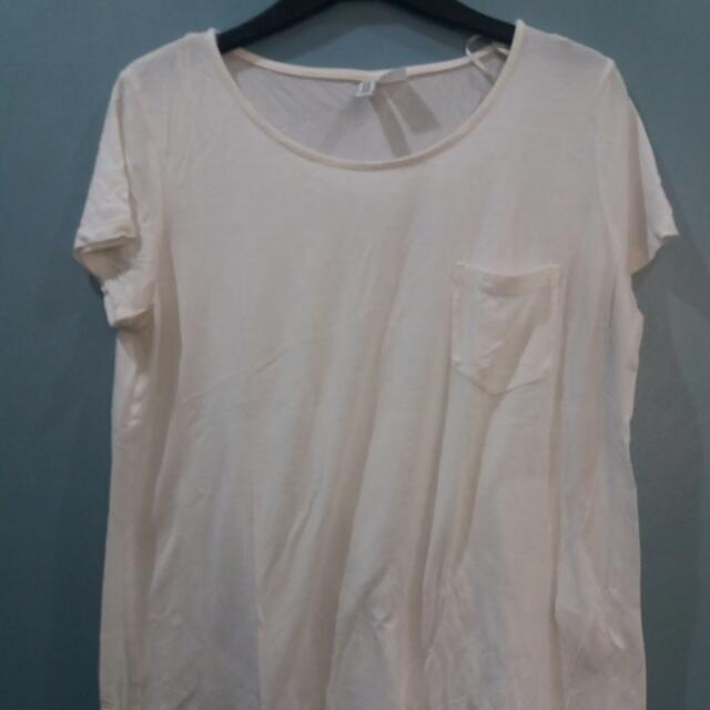 H&M DIVIDED WHITE SHIRT