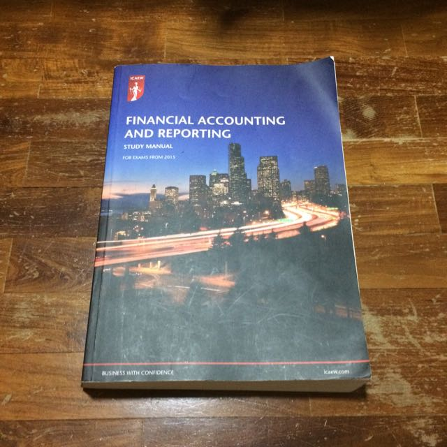 icaew financial accounting and reporting books stationery rh sg carousell com Ho to Manual Accountign Manual