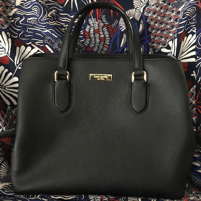 Kate Spade Black Saffiano Leather Bag/ Satchel