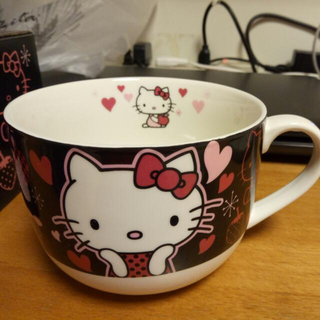 Kitty特大瓷杯&矽膠杯蓋