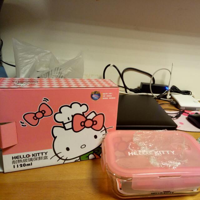 Kitty耐熱玻璃保鮮盒