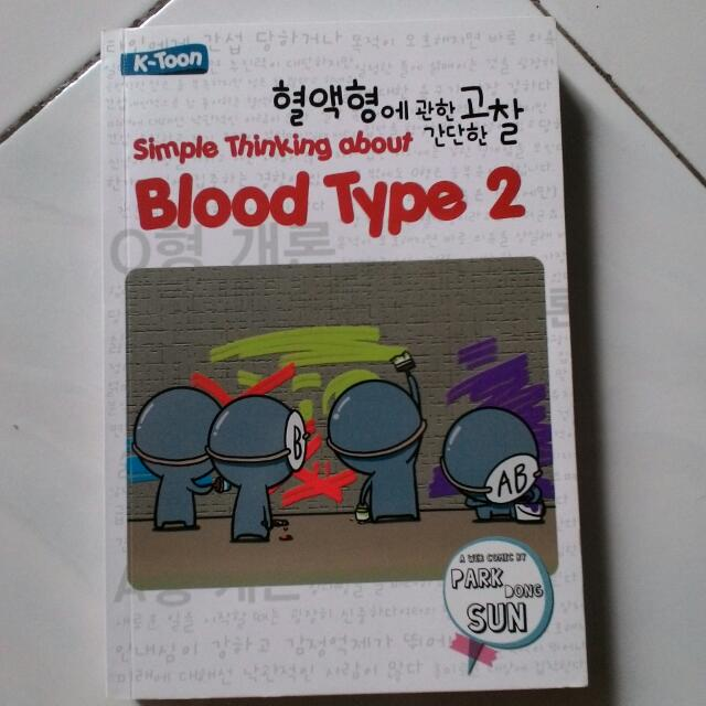 Komik Simple Thinking About Bloodtype 2