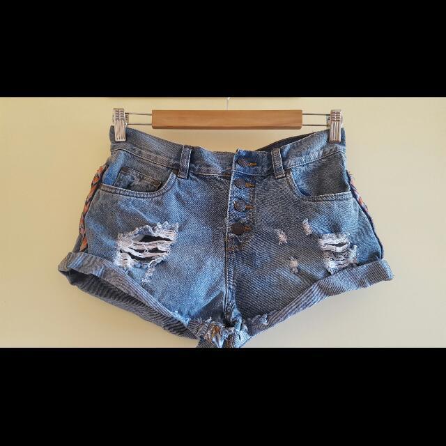 Ladies Shorts - Blue Denim - Size 8
