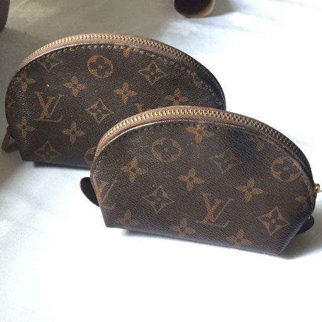 Monogram Louis Vuitton Pouch Replicas x2