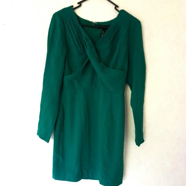 office green dress