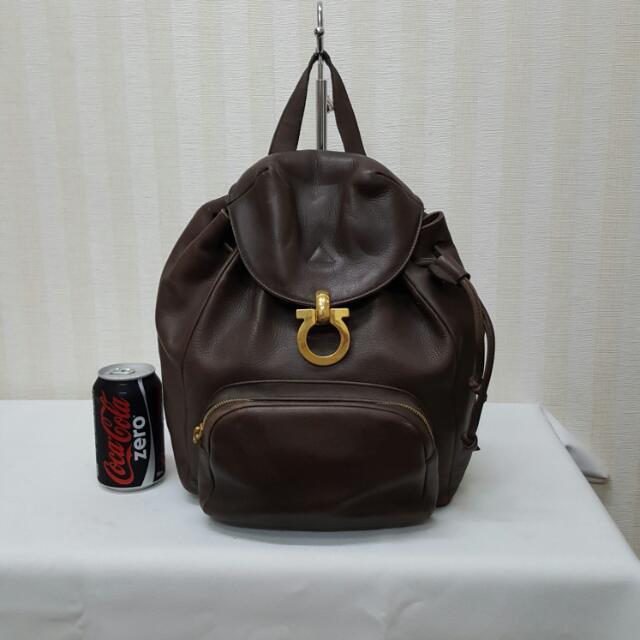 Original Ferragamo Leather Backpack