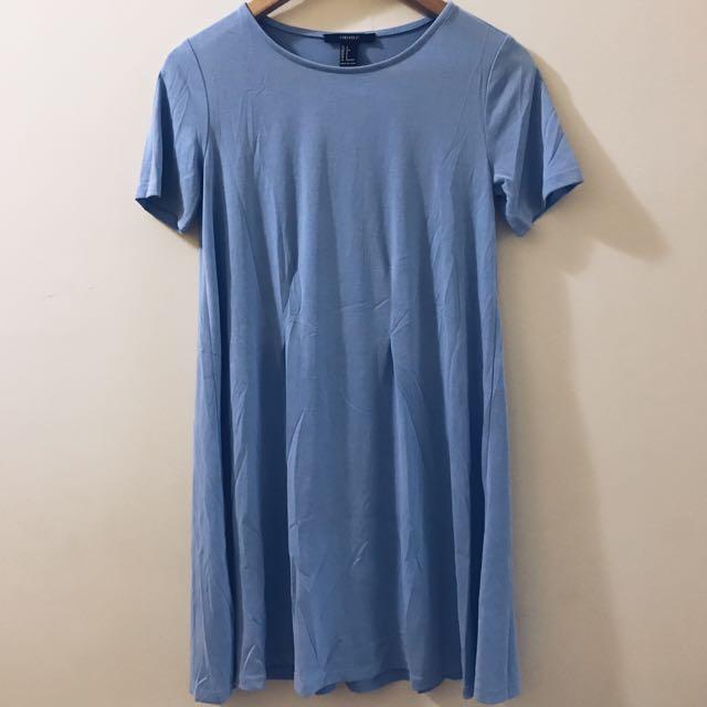 Oversized Blue Dress