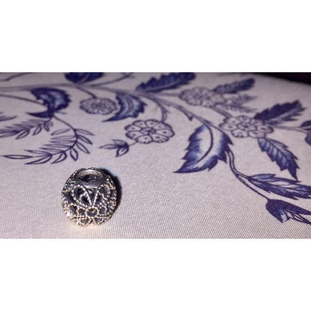 Pandora Roses Openwork Silver Charm