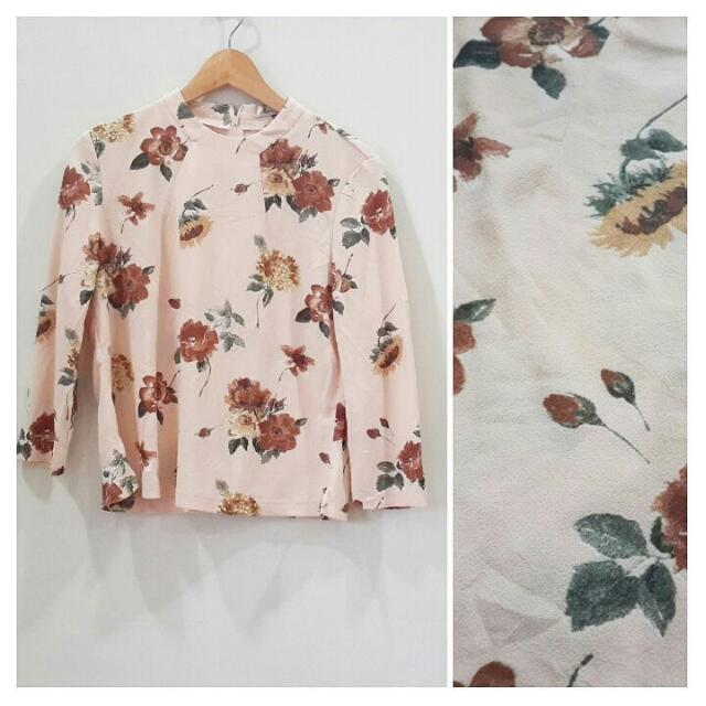 Peachy Fleece Blouse
