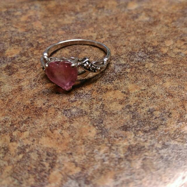 Pink Sapphire Size 7 Ring