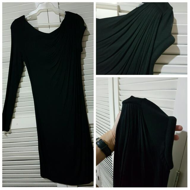 Pre-loved Black Uneven Sleeve Cocktail Dress