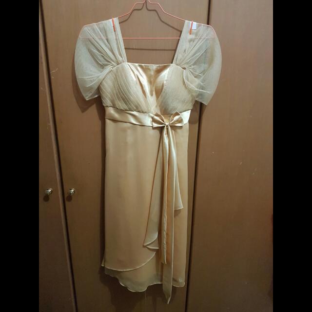 Preloved Gold Dress Fit S-M