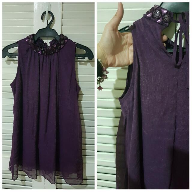 Pre-loved Purple Formal Top