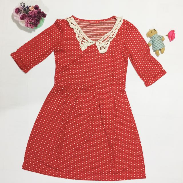 Red Patch Dress