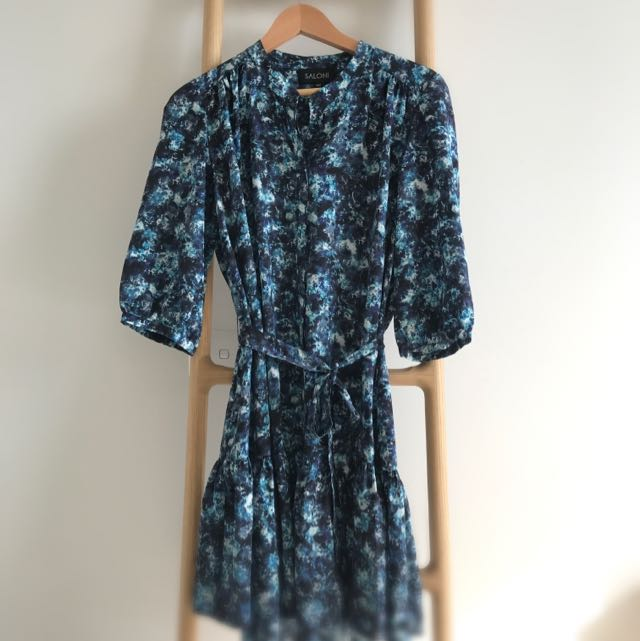 Saloni Floral Silk Dress Sz10