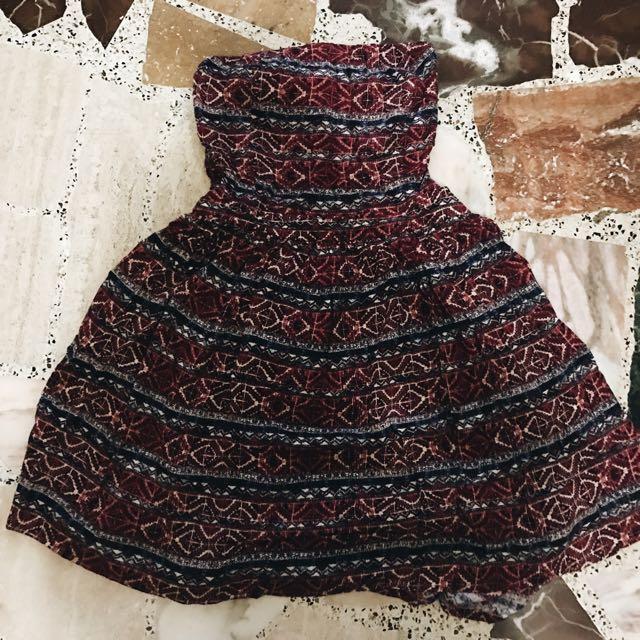 Semi Open Back Dress