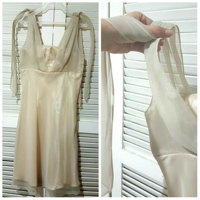 Short Beige Formal Dress