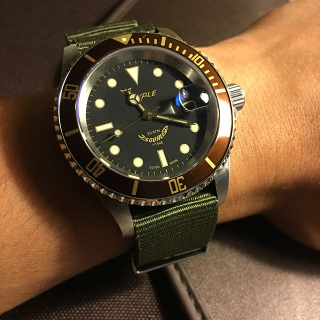 squale 1545 20 atmos heritage men s fashion watches on carousell
