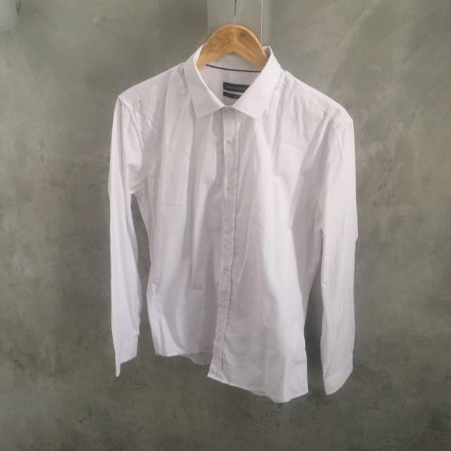 Tarocash Diamond Texture Cotton Blend Shirt