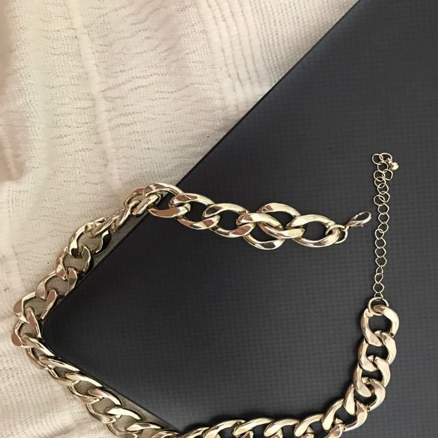 Thick Chinky Statement Fashion Women's Chain Gold Necklace