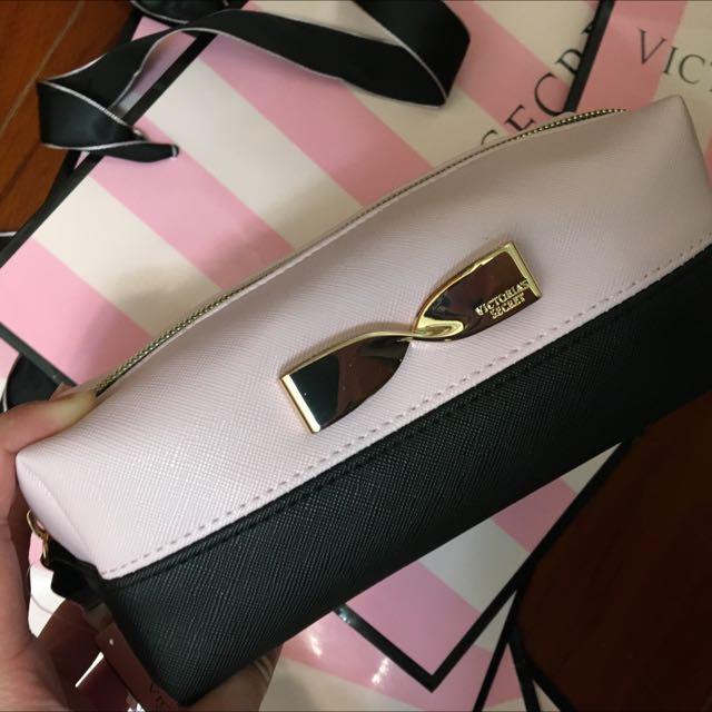 Victoria's Secret 小化妝包可當鉛筆盒
