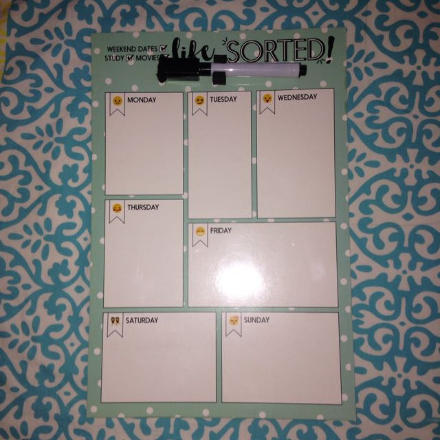 Weekly Organiser Whiteboard