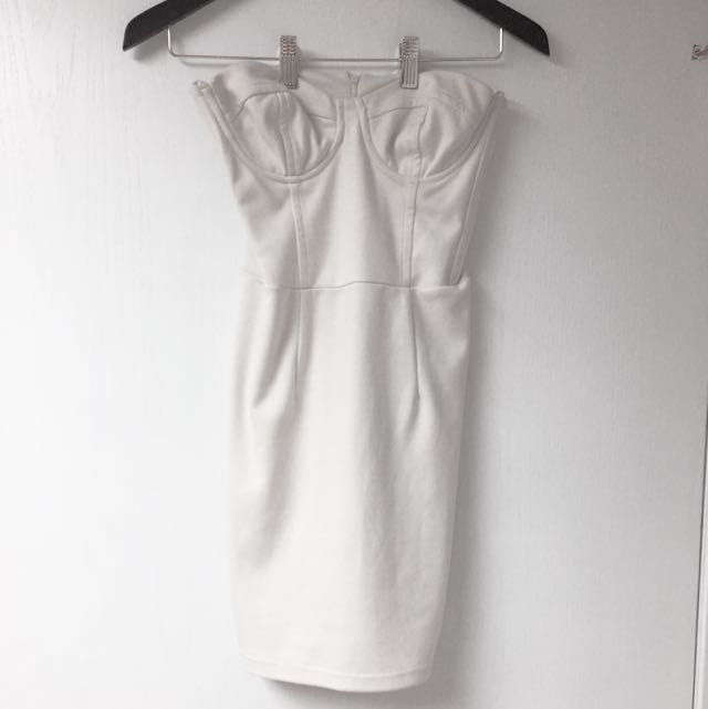 White Corset Style Dress