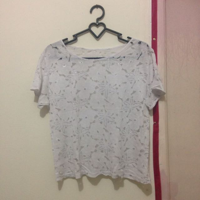 WHITE LACES SHIRT