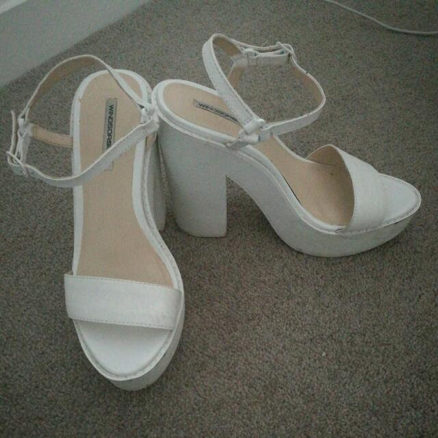 Windsor Smith Heels (White) Size 6.5