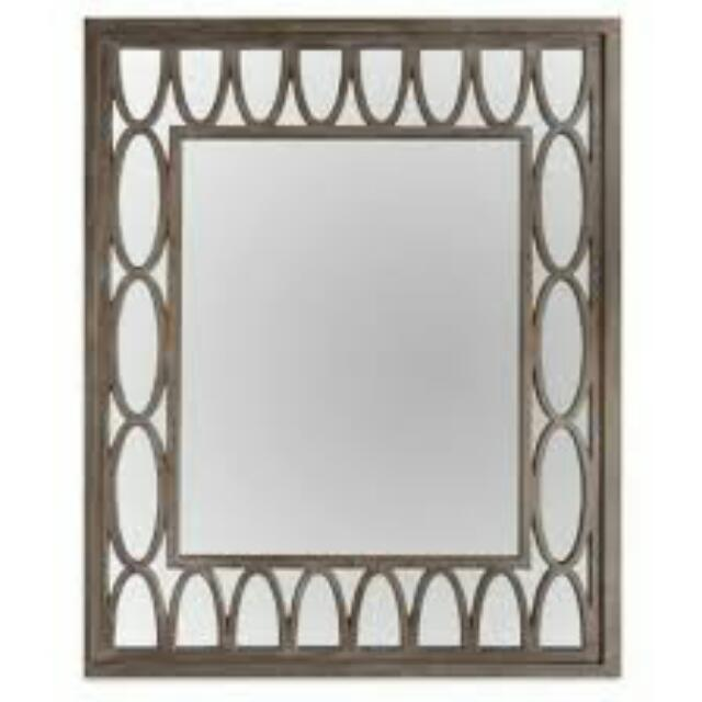 Wooden Lattice Mirror