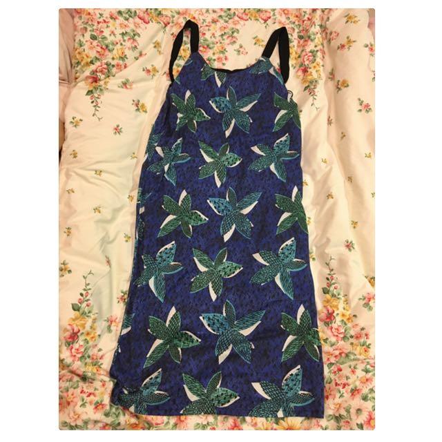 Zara渡假風長洋裝