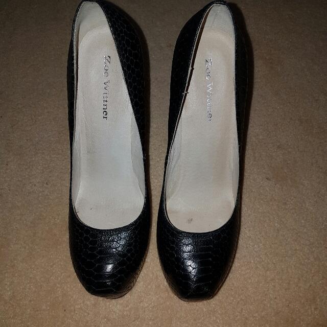 Zoe Wittner Sassy 40 Black Stilettos Leather