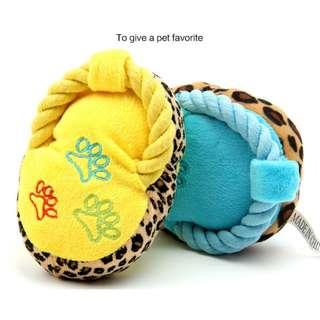 【寵物商品】寵物可愛麻繩小拖鞋