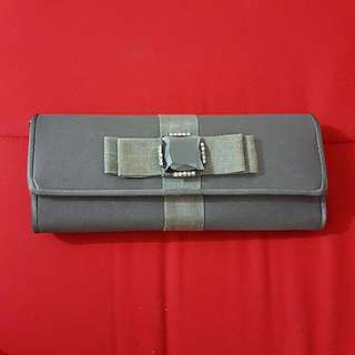 Sale! Preloved Grey Party Cluth Bag