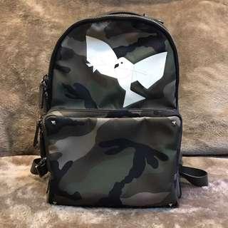 男女用全新正品VALENTINO迷彩後背包