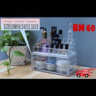 Free Postage 1 Drawer Acrylic Cosmetic Organizer