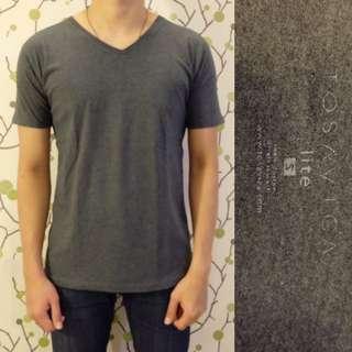 TOSAVICA V-Neck Grey Shirt