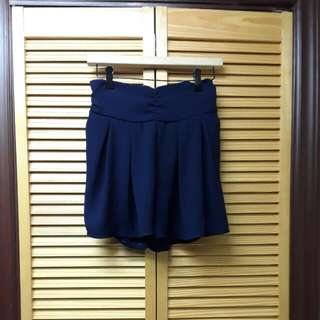 Blue- Flowing Shorts, Flawlessly Moves Like A Skirt